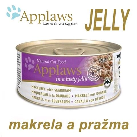 Applaws konzerva Cat  JELLY 70g - makrela a pražma
