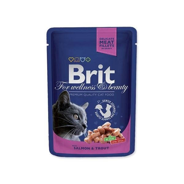 BRIT Premium Cat Salmon & Trout kapsička 100 g