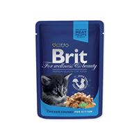 BRIT Premium Kitten Chicken Chunks kapsička 100 g