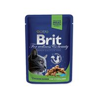 BRIT Premium Cat Chicken Slices for Sterilised kapsička 100 g